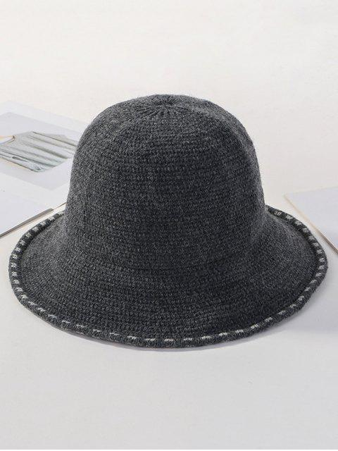 chic Winter Solid Knitted Bucket Hat - DARK GRAY  Mobile