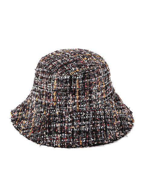 online Winter Plaid Bucket Hat - DEEP COFFEE  Mobile
