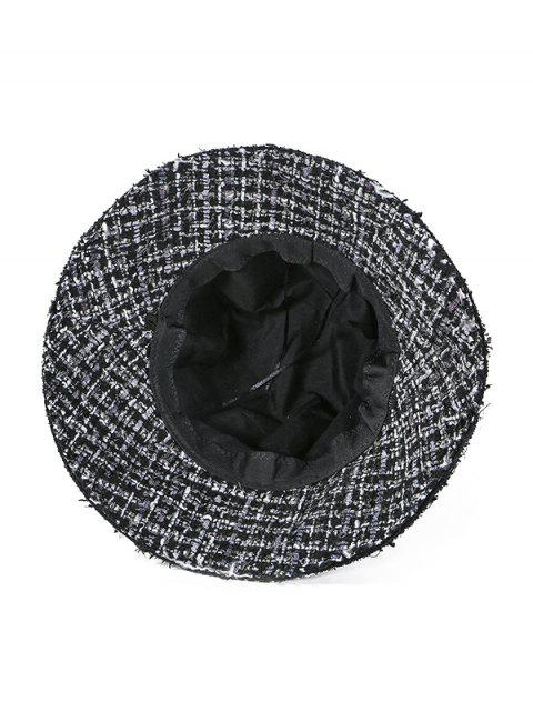outfit Winter Plaid Bucket Hat - BLACK  Mobile