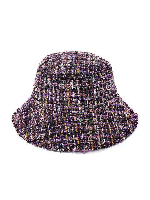 affordable Winter Plaid Bucket Hat - PURPLE  Mobile