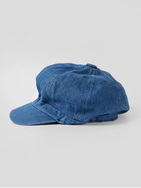 Козырёк Восьмиугольные Джинсовая Шляпа - Тёмно-синий  Mobile
