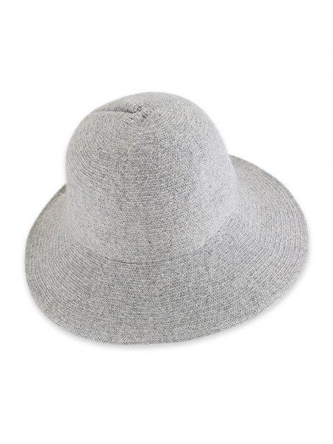 outfits Solid Knitted Foldable Bucket Hat - LIGHT GRAY  Mobile