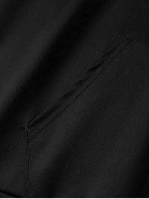 Impreso con capucha Navidad de la historieta - Negro 3XL Mobile