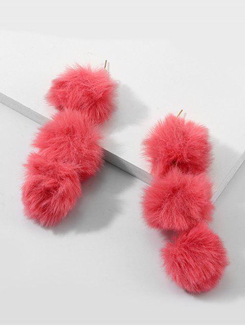 Cuelga los pendientes de la bola difusa - Rojo Frijol  Mobile