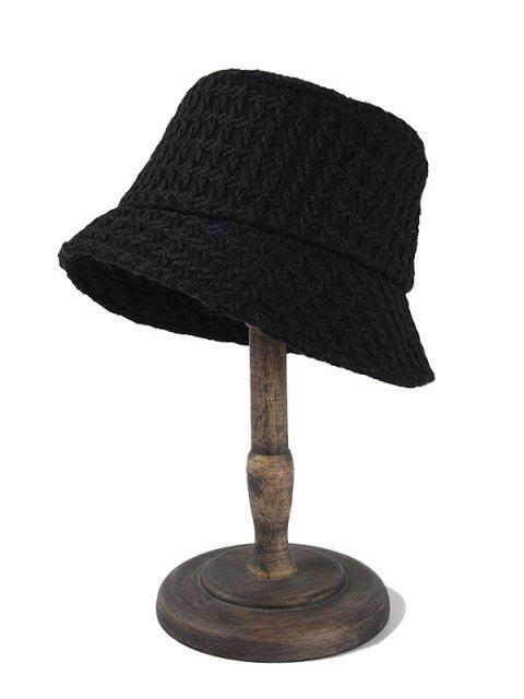 Chapeau Seau Tressé - Noir  Mobile