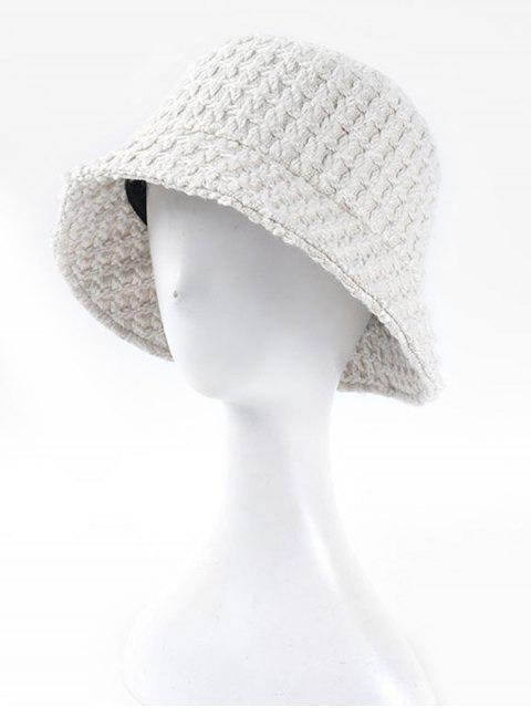 chic Bucket Weaving Hat - WHITE  Mobile