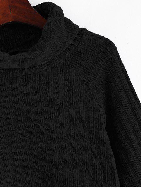 Jersey Cuello Alto Manga Raglán Flecha - Negro Azabache L Mobile
