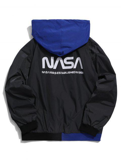 Carta del patrón Zip Hasta la chaqueta con capucha informal - Negro S Mobile