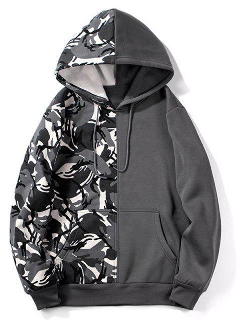 Diseño de camuflaje con capucha con cordón de empalme - Gris de Acorazado S Mobile