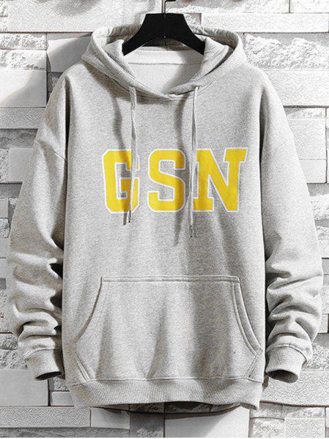GSN con capucha Impreso - Gris Claro 4XL Mobile