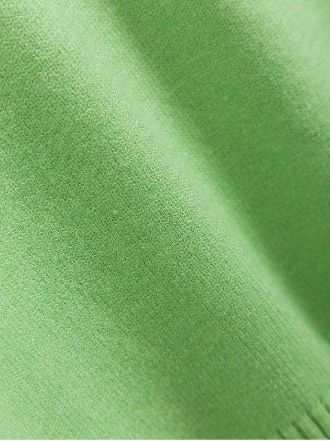 Suéter bordado de Fruta e Ombro Caído - Verde Um Tamanho Mobile