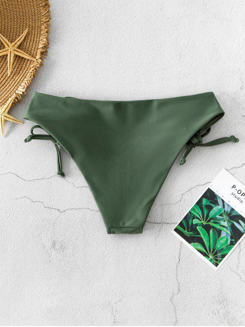 ZAFUL Bikini Bottom mit Schnürung - Tarnanstrich Grün L Mobile