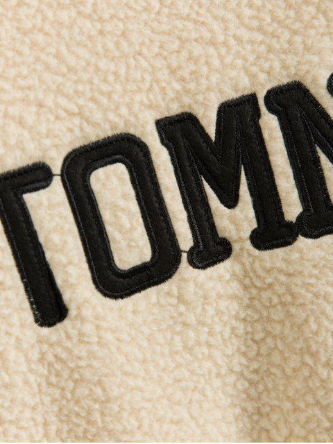 針織模擬領落肩泰迪卹 - 暖白色 M Mobile