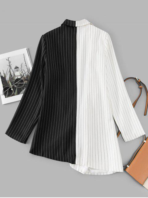 細條紋雙色捆邊禮服裙 - 多-A L Mobile