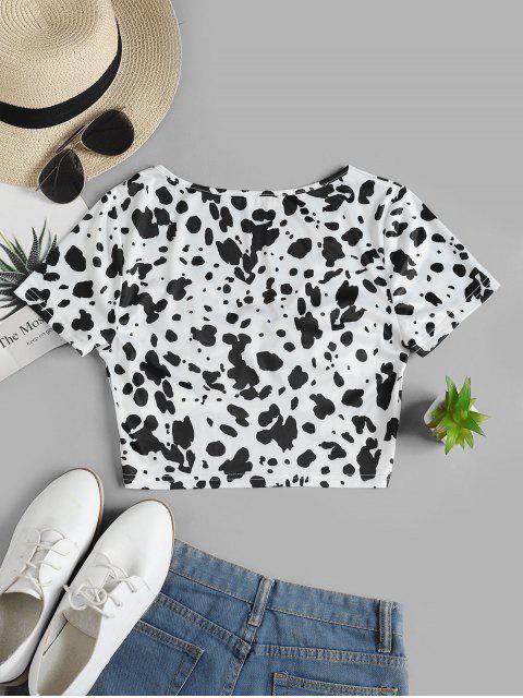 ZAFUL T-shirt Court Dalmatien Imprimé - Multi-C L Mobile