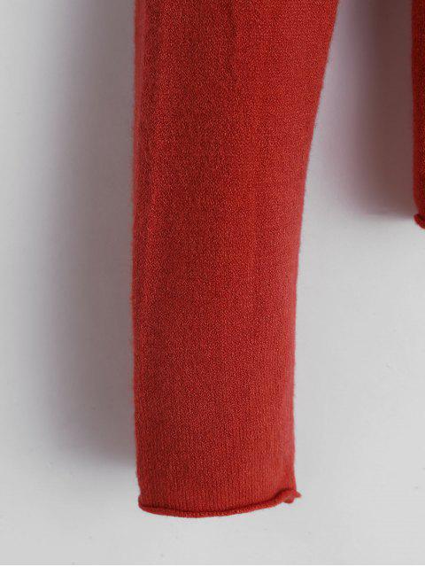 基本的な生の裾のセーター - タイガーオレンジ ワンサイズ Mobile