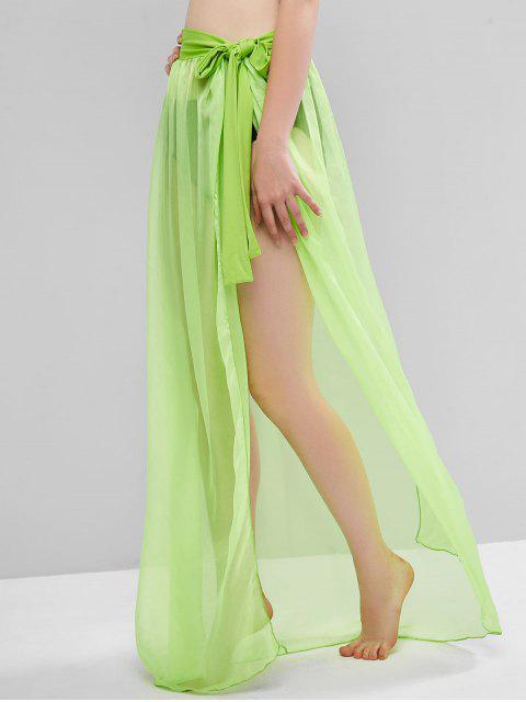 Saia Maxi Wrap de Gravata Pura - Verde Esmeralda Um Tamanho Mobile