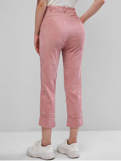 Pantalones Pana Bolsillos y Zipper - Rosa M Mobile