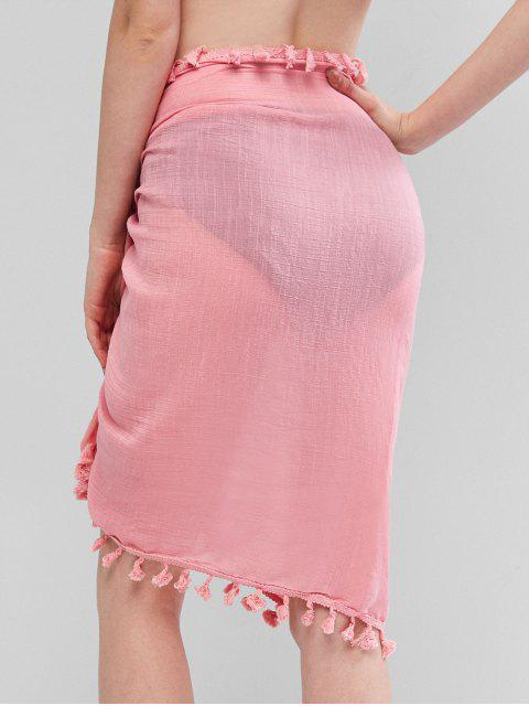 outfits Tassels Sarong Cover-up - ROSE ONE SIZE Mobile