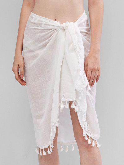 Tassels Sarong Cover-up - White