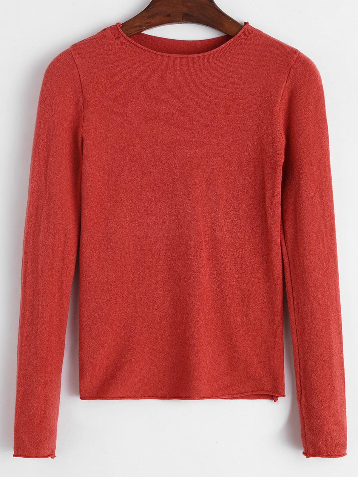 Basic Raw Hem Sweater