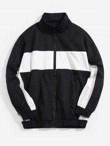 Color Blocking Zip Up Jacket