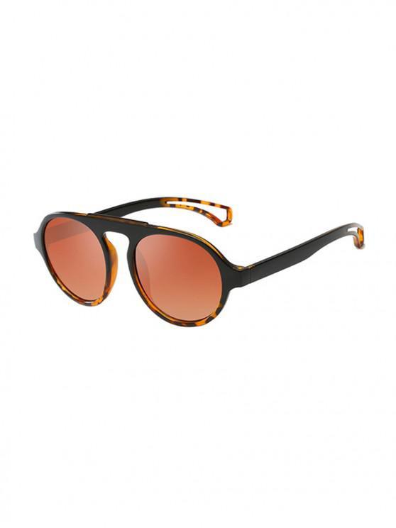 women's Oversized Round Unisex Sunglasses - LIGHT BROWN