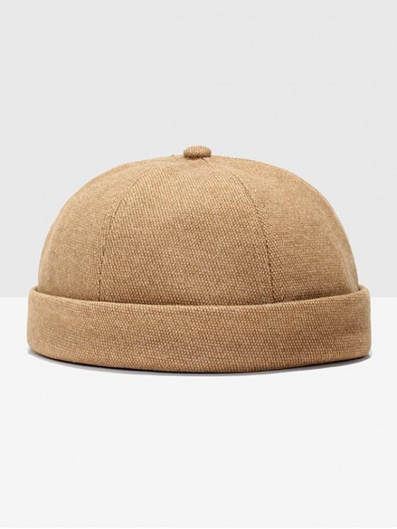 ladies Adjustable Dome Turn Up Edge Hat - BEE YELLOW