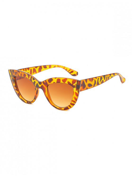 chic Wide Frame Catty Eye Sunglasses - LEOPARD