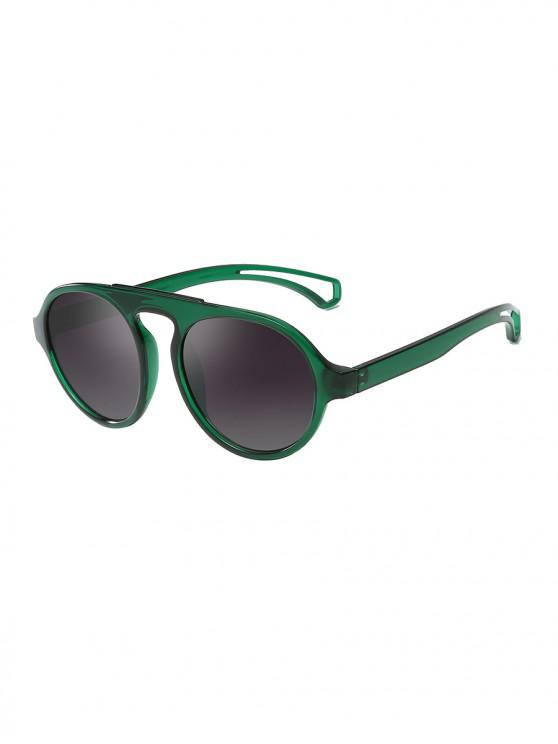 lady Oversized Round Unisex Sunglasses - MEDIUM SEA GREEN