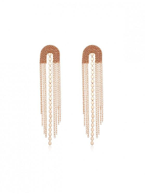 outfits Tassel Simple Long Earrings - GOLD