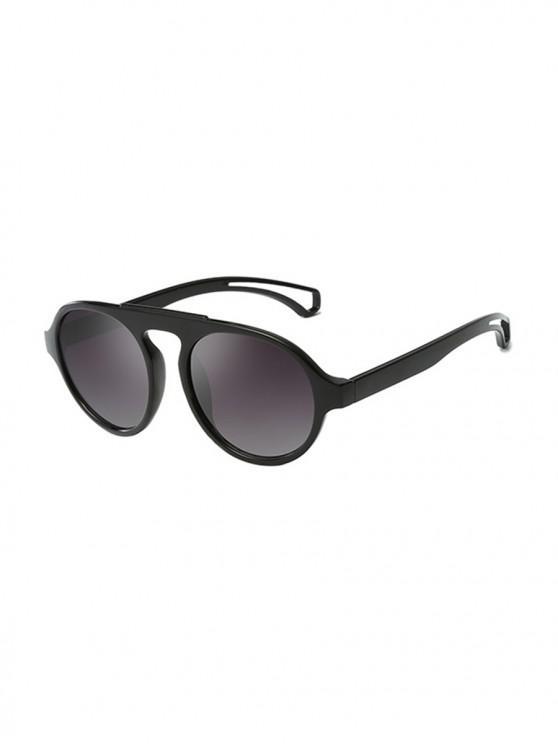latest Oversized Round Unisex Sunglasses - BLACK