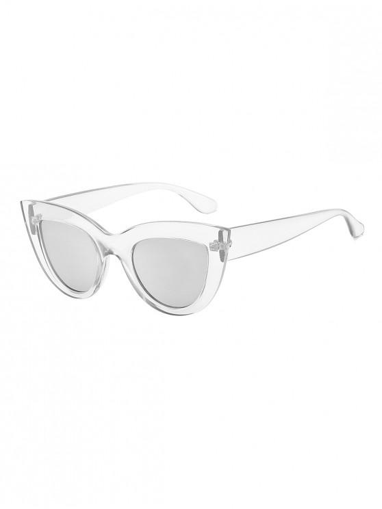 outfits Wide Frame Catty Eye Sunglasses - TRANSPARENT
