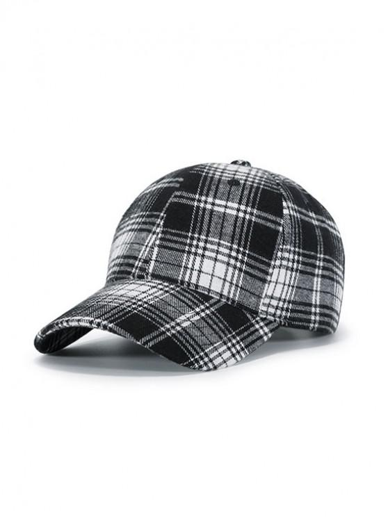 unique Plaid Pattern Sports Baseball Cap - LIGHT GRAY