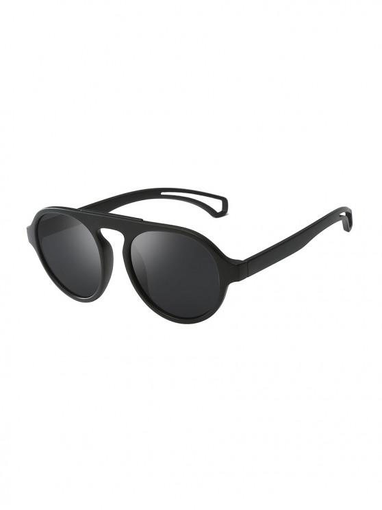 women's Oversized Round Unisex Sunglasses - DARK SLATE GREY