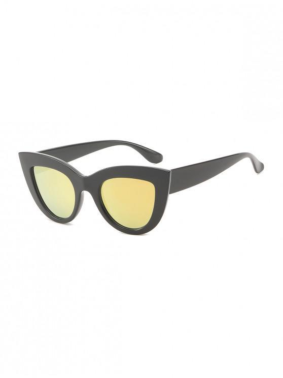 chic Wide Frame Catty Eye Sunglasses - ORANGE PINK