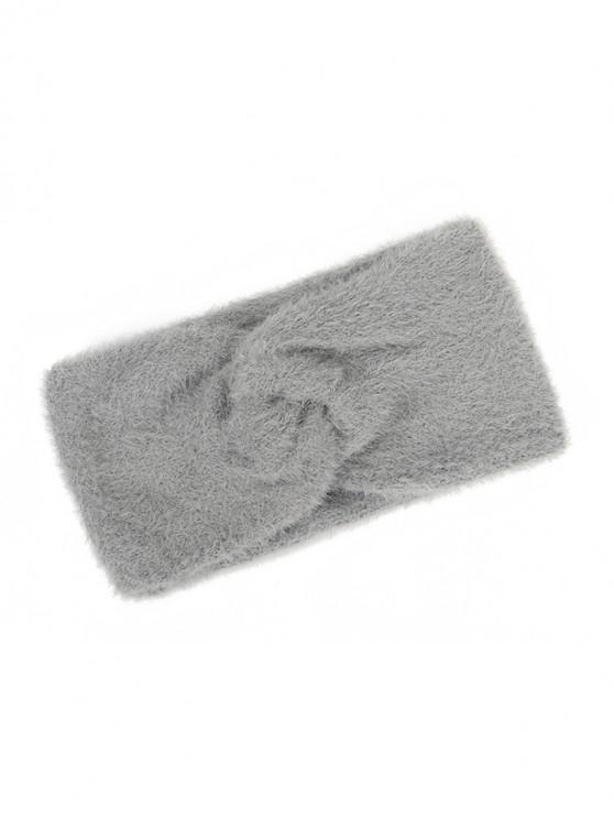 latest Faux Fur Wide Elastic Headband - DARK GRAY