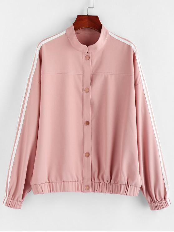 women ZAFUL Side Striped Jacket - ROSE L