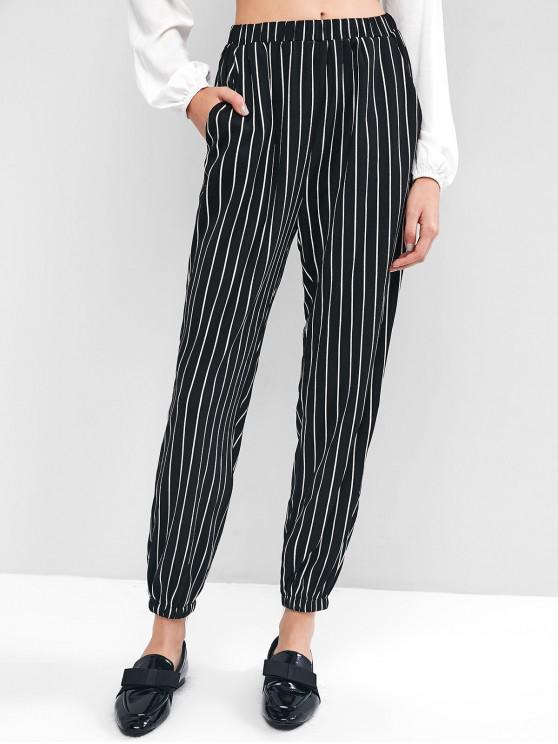 online ZAFUL Striped Jogger Pants - BLACK L