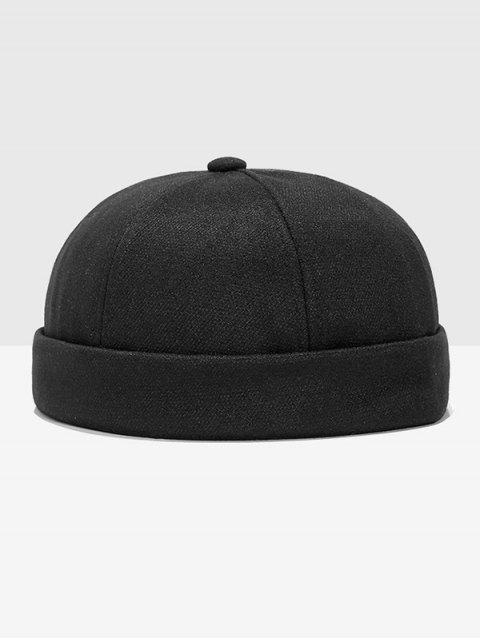 new Adjustable Dome Turn Up Edge Hat - BLACK  Mobile