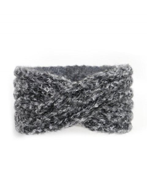 Кросс Широкая Вязаная Эластичная Головная Повязка - Серый металлик  Mobile
