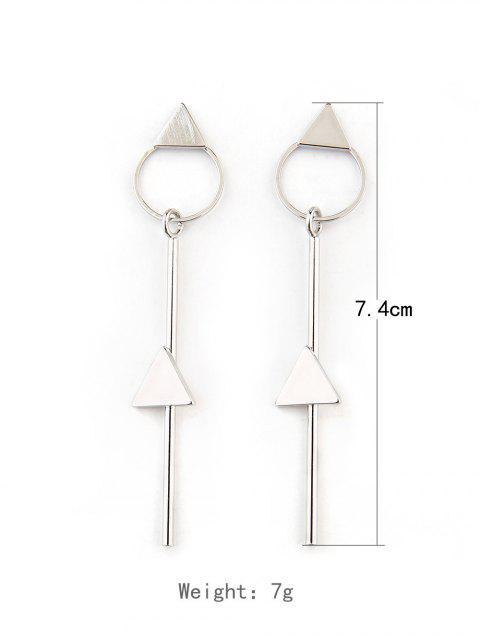 Длинные Геометрические Серьги с подвеской - Серебристый  Mobile