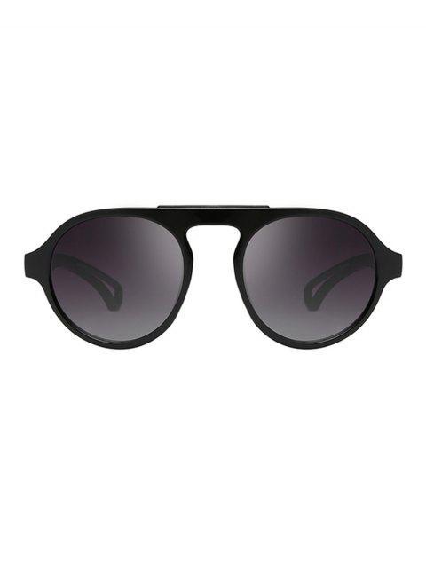 Gafas de sol de gran tamaño redondas - Negro  Mobile