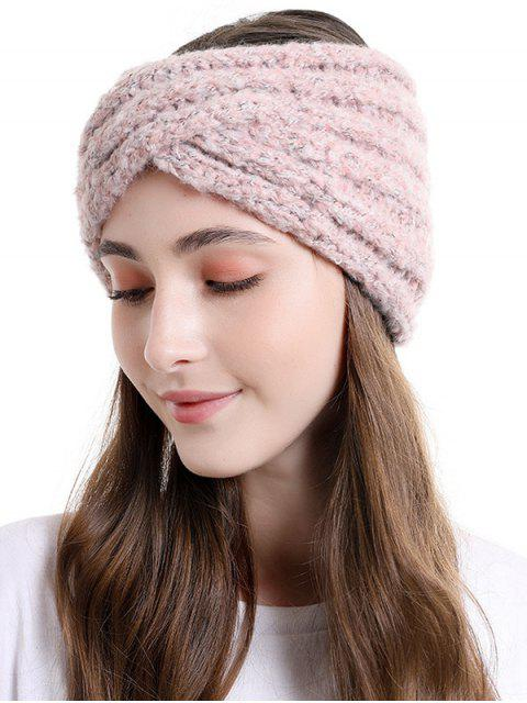 best Cross Knitted Wide Elastic Headband - LIGHT PINK  Mobile