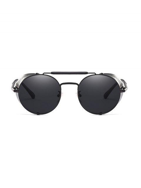 Круглые Металлические Ажурные Солнцезащитные Очки - Чёрный  Mobile