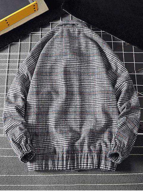 Botón de la chaqueta a cuadros bordados - Cadetblue 3XL Mobile