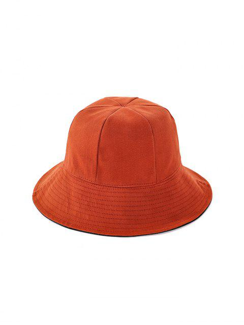 buy Double Faced Solid Floppy Hat - TANGERINE  Mobile