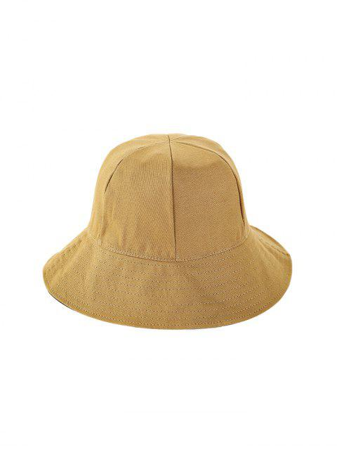 fancy Double Faced Solid Floppy Hat - YELLOW  Mobile