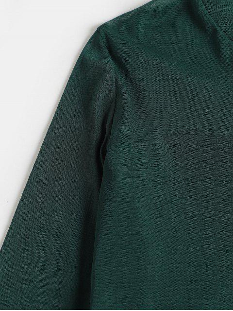 網見直通高領修身T卹 - 綠色 XL Mobile