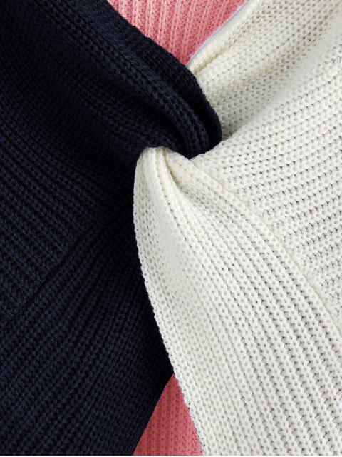 Jersey Twist de Bloqueo de Color - Multicolor-F M Mobile